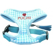 Puchi - Blue Chequered Pet Harness & Lead