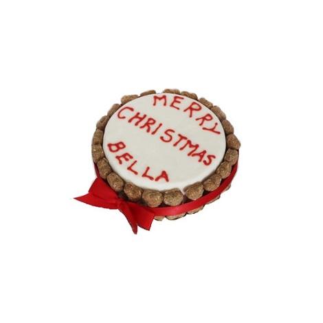 Large Christmas Dog Cake