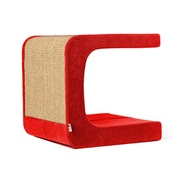 Catworks - Scratching Post - Letter C - Red