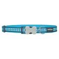 Bones Reflective Dog Collar - Turquoise