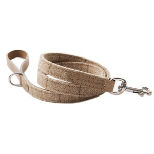Oatmeal Check Tweed Dog Lead