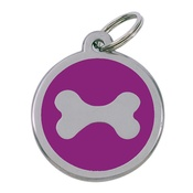 Tagiffany - My Sweetie Pink Bone Pet ID Tag