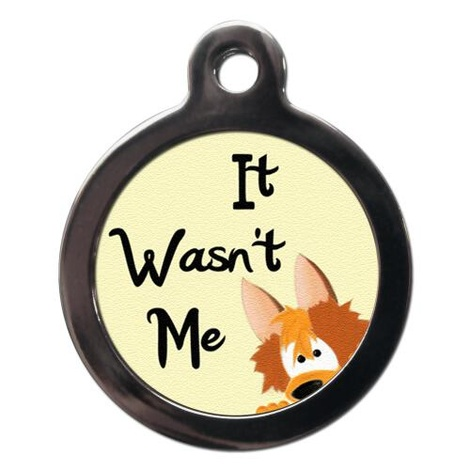 It Wasn't Me Pet ID Tag