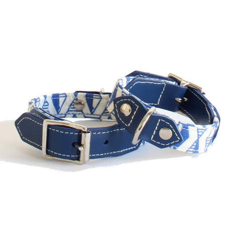 Blue Geo Dog Collar 2