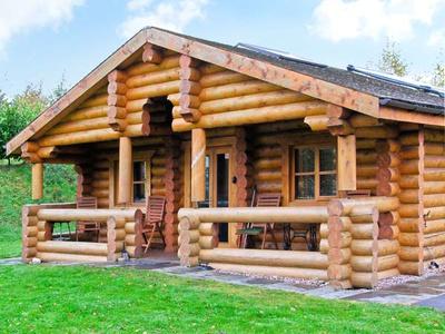Cedar Log Cabin, Brynallt Country Park, Shropshire, Ellesmere