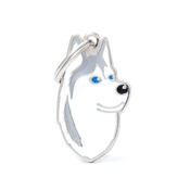 My Family - Siberian Husky Engraved ID Tag