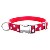 CanineAllStars - White Dots on Red Dog Collar