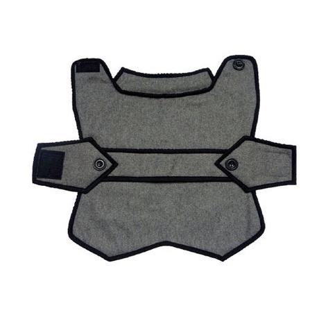 Grey Wool Blazer Dog Coat 2