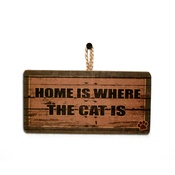 Signoodles - Home Is Where the Cat Is' Pet Owner Sign