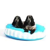 Lords & Labradors - Bon Bon Soft Dog Bed - Blue Stripe