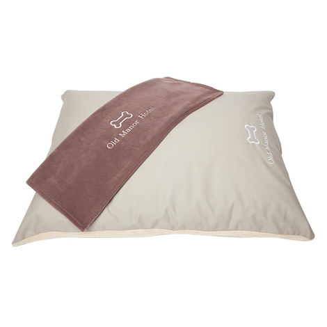 Personalised Cream Sherpa Fleece Dog Bed 3