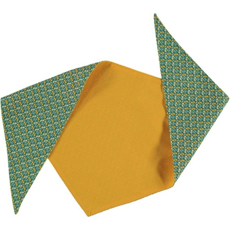 Cubes Dog Bandana – Yellow & Green 2