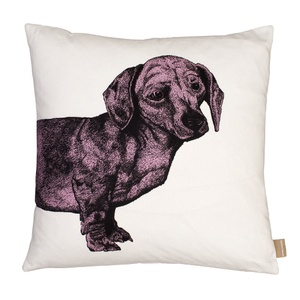 Dachshund Cushion - Pink