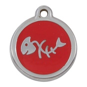 Tagiffany - My Sweetie Red Fishbone Pet ID Tag