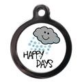 Happy Snowy Days Dog ID Tag
