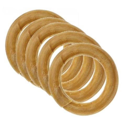 Hide Pressed Rings Dog Treat x 5