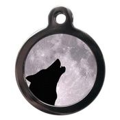 PS Pet Tags - Howling Wolf Pet ID Tag