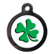 PS Pet Tags - Four Leaf Clover Pet ID Tag