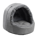 Arctic Silver Fox Hooded cat bed