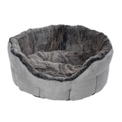 House of Paws - Winter Warmer Super Soft Oval Dog Bed