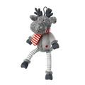Silent Night Reindeer Plush Dog Toy