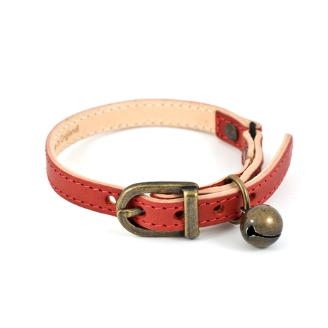 Red Leather Cat Collar 3