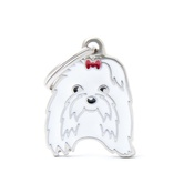 My Family - Maltese Engraved ID Tag