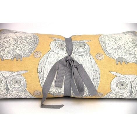 Owl Motif Dog Roll Bed - Buttercup 2