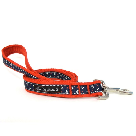 Little Sailors Navy on Red Dog Lead