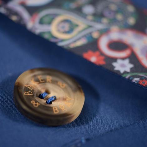 Kensington Dog Trench Coat – Royal Blue & Liberty Karm 4