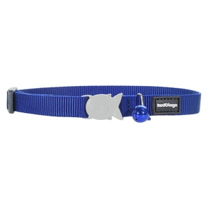 Plain Dark Blue Cat Collar