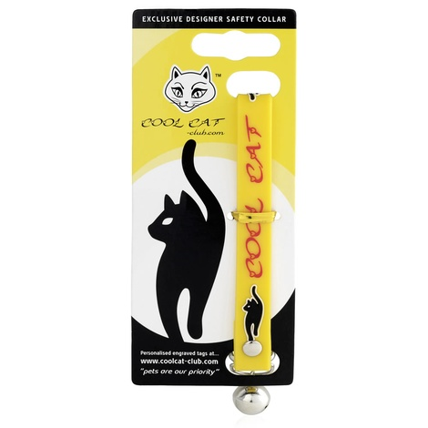 Cool Cat Luxury Designer Safety Cat Collar - Yellow