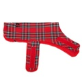Personalised Red Tartan Dog Coat 2