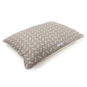 Mutts & Hounds - Mushroom Bone Linen Pillow Bed