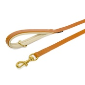 Dogs & Horses - Tan & Cream Colours Leather Lead