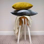 The Lounging Hound - Velvet Scatter Cushion - Turmeric