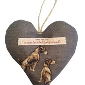 L&S Interiors - Jack Russell Lavender Heart