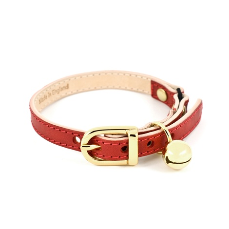 Red Leather Cat Collar 2