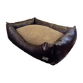 Chill Out Rectangular Dog Bed - Brown 3