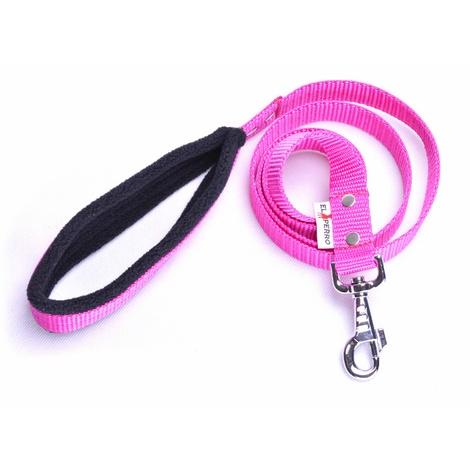 Fleece Comfort Dog Lead – Fuchsia Pink