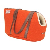 LoveMyDog - Edison Orange Harris Tweed Pet Carrier