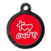 PS Pet Tags - Red Too Cute Dog ID Tag