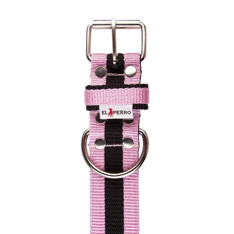 Juicy Strip Dog Collar - Baby Pink 2