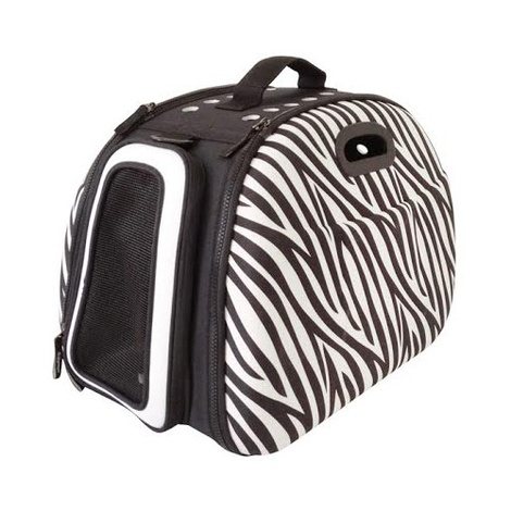 Collapsible Carrier Deluxe - Zebra Print