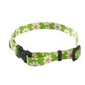 Yellow Dog - Green Daisy Collar