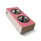 Binq Design - bite&slurp Multi Pet Feeder - Wood & Pink