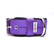 El Perro - 4cm Width Fleece Comfort Dog Collar – Purple