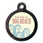 PS Pet Tags - Welcome to Dog Beach Pet ID Tag
