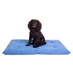 Plain Dog Roll Bed - Blue
