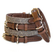Mutts & Hounds - Herringbone Tweed Dog Collar